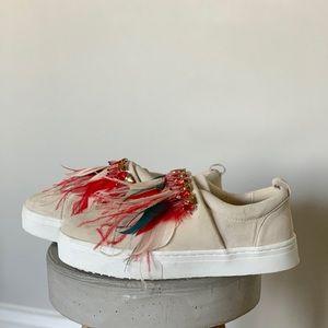 Sam Edelman Leilani Feather Gemstone Suede Shoes